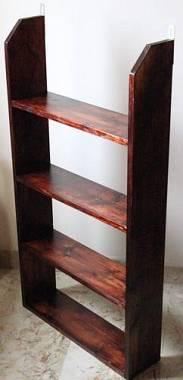 Mobile porta dvd cd artigianale in legno stile arte povera - Porta dvd in legno ...