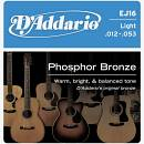 D'addario EJ16 Phosphor Bronze 12-53 Light