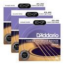 Scatola di 3 mute di corde per chitarra acustica DAddario EXP 26 Custom Light