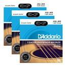Scatola da 3 mute di corde per chitarra acustica DAddario EXP 16 Light