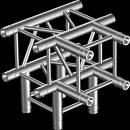 PROTRUSS HQ30T4 Raccordo T 4vie compatibile truss HQ30, tubo c. 50x3mm, 2x FCQ5 incluso