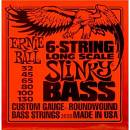 Ernie Ball 2838 Slinky 6-String Bass Nickel Wound Set, Long Scale (32 - 130)