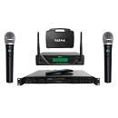 KARMA Live Bar/Karaoke Pack Lettore / Radiomicrofono Doppio UHF Bundle