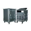 Flight Case 12 Unità + Supporto Mixer Inclinabile Con Ruote - Flight Case Professionale 12u Con Supp