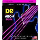 DR Strings K3 NEON HI-DEF PINK NPB5 45