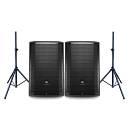 JBL Coppia PRX815W Stage Monitor 1500W / Supporti per Diffusori