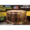 "DW PERFORMANCE MAPLE 14x6.5"" - 100% ACERO! MADE IN USA! GARANZIA UFFICIALE ITALY"