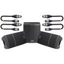 SOUNDSATION Sistema Audio Completo 1860W Coppia Casse Attive / Sub / Cavi XLR/XLR 5mt Bundle