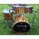 "ILGARAGEDIASSO Custom ""Tigerwood"" drumset, 20""-10""-12""-14"". NEW!"