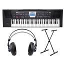 ROLAND BK3 BK Backing Keyboard 61 Tasti Nera / Cuffie Monitor Professionali / Supporto a X