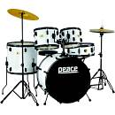 Drum Set 5 pcs con finiture rivestite e cassa da 20pollici PEACE mod.DP-109BK-20-910