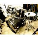 "Q Daila Percussions set standard nero trasparente lucido 22"" 14"" 12"" 13"" 16"""