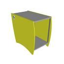 Palladio 20 Standard Rack - Lime Green - Mobile Per Unita Rack Verde
