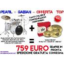 PEARL EXPORT + HARDWARE + SET PIATTI SABIAN! NUOVE IN GARANZIA UFFICIALE ITALIA!