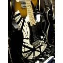 EVH Eddie Van Halen Stripe White Black