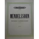 EDITION PETERS MENDELSSOHN RONDO CAPRICCIOSO OP 14 PER PIANOFORTE