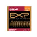 D'addario Exp15 Phosphor Bronze - Cordiera Per Chitarra Acustica Coated Phosphor Bronze Extra Light