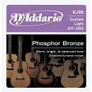 D'addario EJ26 Phosphor Bronze 11-52 Custom Light