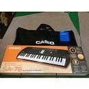 CASIO SA-76 Tastiera con 44 Minitasti con Alimentatore e Borsa