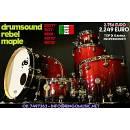 DRUM SOUND REBEL MAPLE 22 10 12 14 16 - 100% MADE IN ITALY! IN GARANZIA UFF ITA!