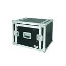 "Flight Case 8u Rack 19"" C/supp. Mixer Inclinabile - Flight Case Professionale 8 Unita Rack 19"""