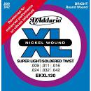 D'ADDARIO EKXL120 SUPER LIGHT 009-042
