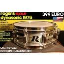 """ROGERS DYNASONIC 14x5,5"""" - 100% OTTONE CROMATO! DA COLLEZIONE! PERFETTO!"""