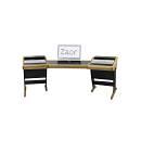 Zaor Onda Angle - Oak - Studio Desk Angolato Quercia