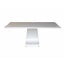 Zaor Idesk Plain - White Gloss - Mobile Workstation Senza Porta Rack Bianco