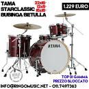 TAMA STARCLASSIC B/B 22 12 16 FUSTI BETULLA/BUBINGA! IN GARANZIA UFFICIALE ITALY