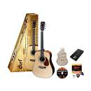 Cort Earth Pack Ns - Kit Chitarra Acustica Naturale Con Accessori