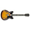 Ibanez ASV100FMD-YSL - Chitarra elettrica semi-hollow body Distressed - Yellow Sunburst low gloss