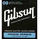 Gibson Corde Vintage Reissue 09-42 Chitarra Elettrica pure nickel