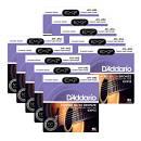 Scatola da 10 mute di corde per chitarra acustica DAddario EXP 13 Custom Light