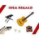 Muses CG303YW - chitarra classica 4/4 - con custodia, accordatore clip, poggiapiedi, plettri & corde