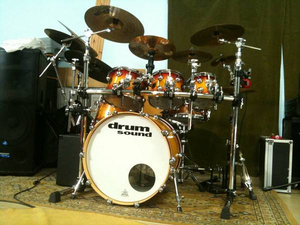 Drum Sound Equalized (Custom Maple shell)