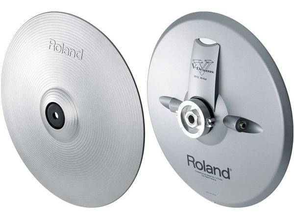 """Roland Vh-12 Sv V-hi-hat - Pad Piatto Charleston Con Doppio Trigger 12"""" Argento"""