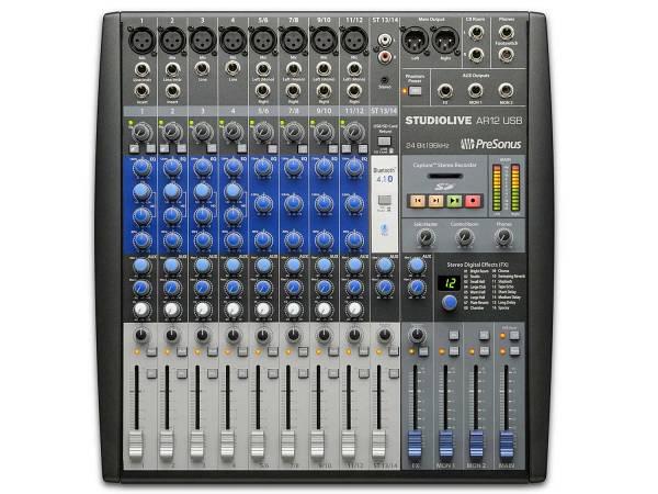 Presonus Studiolive Ar12 Usb - Mixer Analogico Bluetooth 14 Canali Con Registratore Digitale Usb