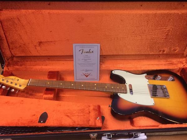 Fender TELECASTER '63 RELIC CUSTOM SHOP - 3CSB