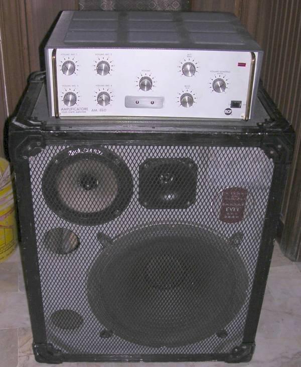 Amplificatore Testata + Cassa  -  RCF AM-860 modificato - Cassa Zeck PA15 3 vie