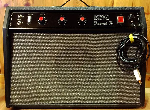 Amplificatore Vintage Davoli Tempest 15 (Fender Marshall Gibson Squier Ibanez)