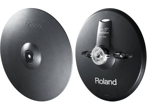 """Roland Vh-13 Mg V-hi-hat - Pad Piatto Charleston 12"""" Grigio Metallizzato"""