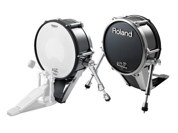 """Roland Kd140 Bc - V-pad Cassa Con Pelle Mesh 14"""" Nero Cromato"""
