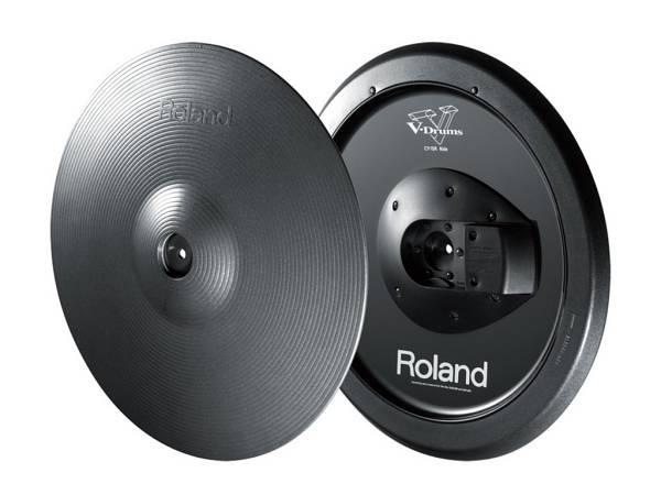 """Roland Cy-15r Mg - Pad Piatto Ride 15"""" Con Doppio Trigger Grigio Metallizzato"""