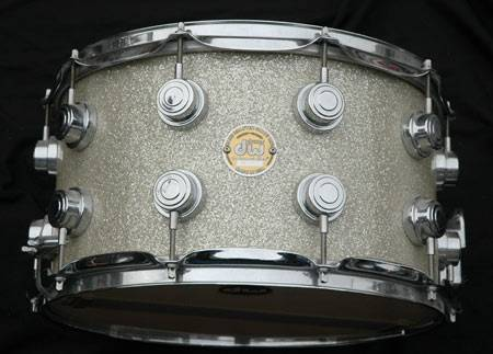 DW COLLECTOR'S FINISH PLY 14X5 SILVER SPARKLE