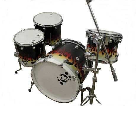 Drum Sound TRIBAL FLAME 4 PEZZI CON ASTA