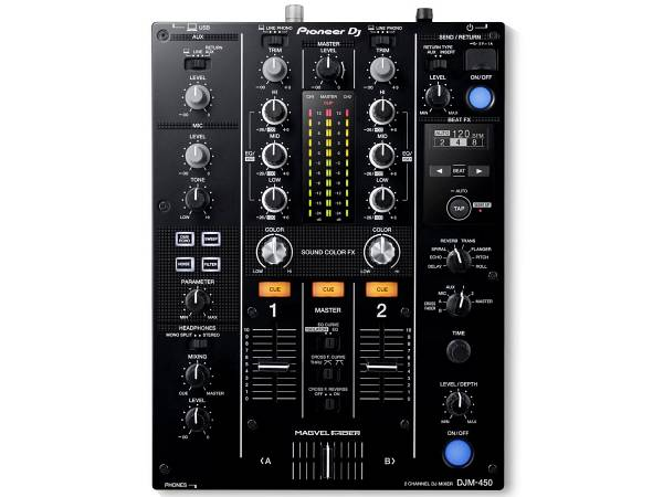 Pioneer Djm450 Black - Mixer 2 Canali Per Dj Nero