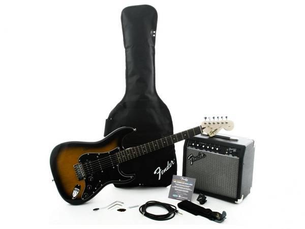 Fender Squier Affinity Stratocaster Pack 15g Brown Sunburst - Chitarra Elettrica Sunburst Con Amplif