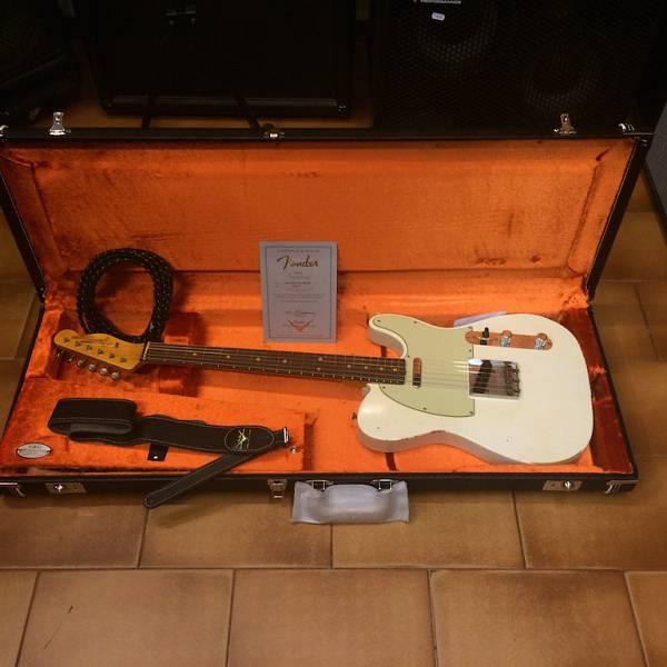 Fender Custom Shop '63 Telecaster Relic - Olympic white