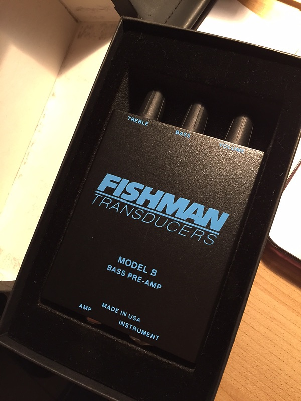Fishman MODEL B ACOUSTIC BASS PREAMP